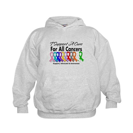 I Support A Cure For All Cancers Kids Hoodie