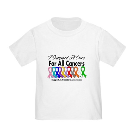 I Support A Cure For All Cancers Toddler T-Shirt