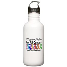 I Support A Cure For All Cancers Sports Water Bottle