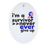 Survivor Male Breast Cancer Ornament (Oval)