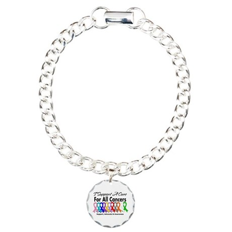 I Support A Cure For All Cancers Charm Bracelet, O