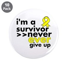 "Never Give Up Ewing Sarcoma 3.5"" Button (10 pack)"