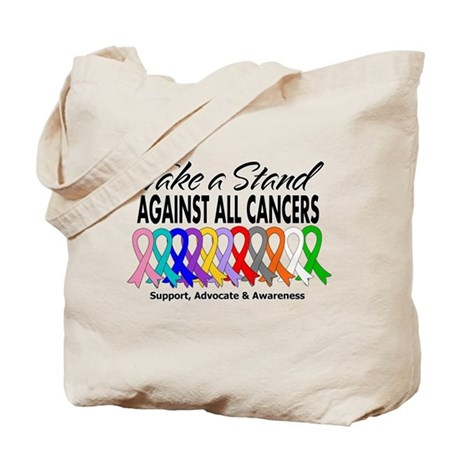 Take A Stand All Cancers Tote Bag