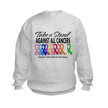 Take A Stand All Cancers Kids Sweatshirt