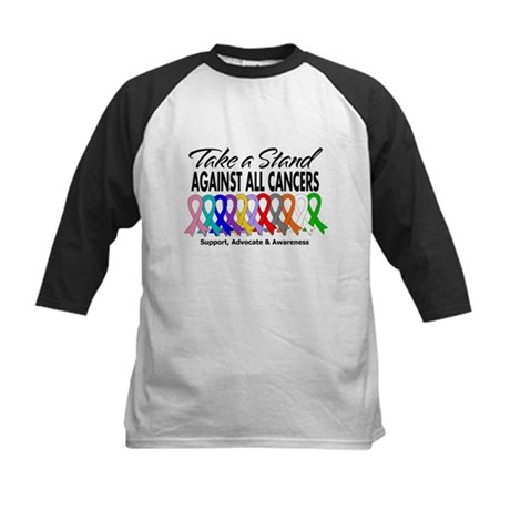 Take A Stand All Cancers Kids Baseball Jersey