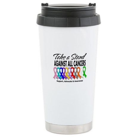Take A Stand All Cancers Ceramic Travel Mug