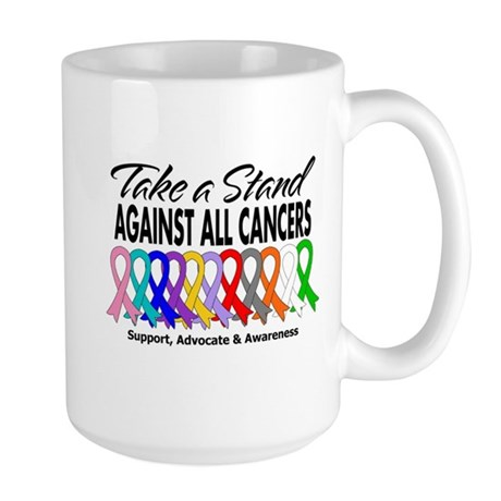 Take A Stand All Cancers Large Mug