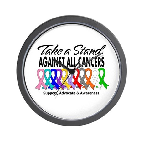 Take A Stand All Cancers Wall Clock