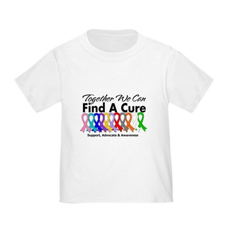 Together We Can Find A Cure Toddler T-Shirt