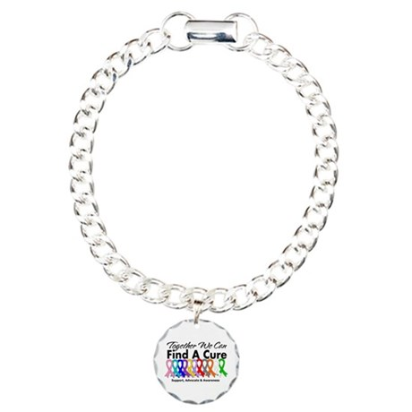 Together We Can Find A Cure Charm Bracelet, One Ch