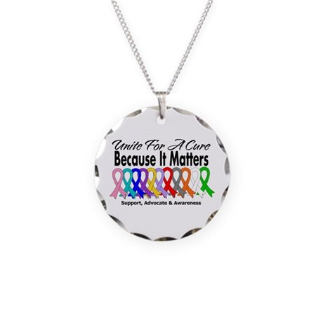 Unite For A Cure Necklace Circle Charm