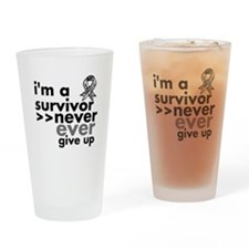 Never Give Up Carcinoid Cancer Drinking Glass