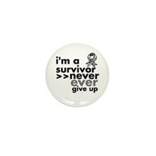 Never Give Up Carcinoid Cancer Mini Button (10 pac