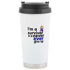 Never Give Up Bladder Cancer Ceramic Travel Mug