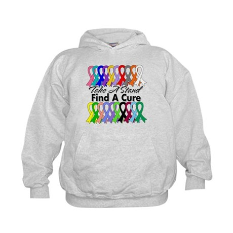 Take A Stand Find A Cure Kids Hoodie
