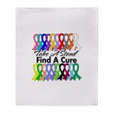 Take A Stand Find A Cure Throw Blanket