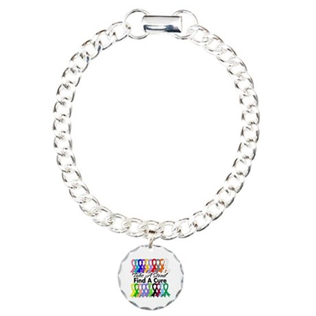 Take A Stand Find A Cure Charm Bracelet, One Charm