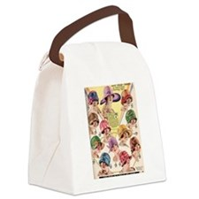 Flapper Hats Canvas Lunch Bag