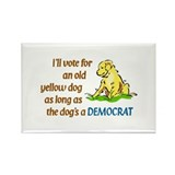 Yellow Dog, Original Rectangle Magnet (10 pack)