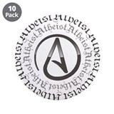 "Atheist Circle Logo 3.5"" Button (10 pack)"