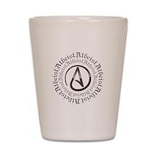 Atheist Circle Logo Shot Glass