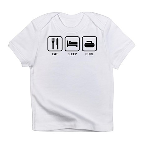 Eat Sleep Curl Infant T-Shirt