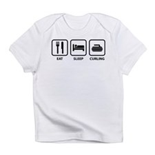 Eat Sleep Curling Infant T-Shirt