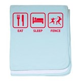 Eat Sleep Fence baby blanket