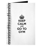 Keep calm and tax go to gym Journal