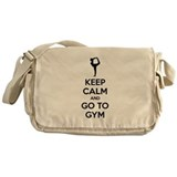 Keep calm and tax go to gym Messenger Bag