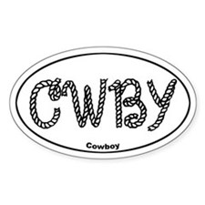 CWBY (cowboy) Oval Decal