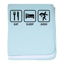 Eat Sleep Judo baby blanket