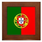 Portugal Flag Framed Tile