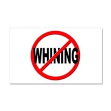 Anti / No Whining Car Magnet 20 x 12