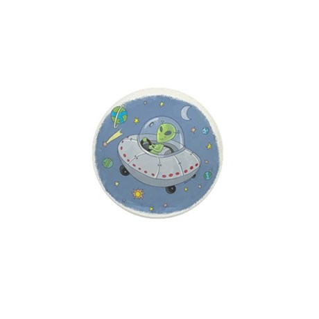 Little Green Alien Mini Button (10 pack)