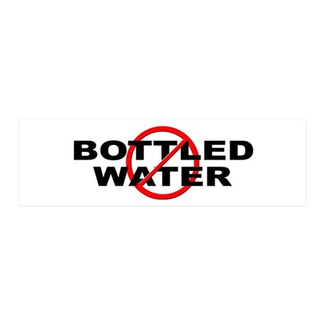 Anti / No Bottled Water 20x6 Wall Decal