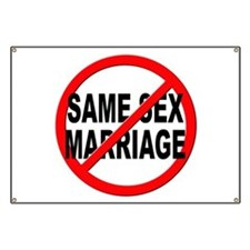 Anti / No Same Sex Marriage Banner