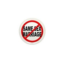 Anti / No Same Sex Marriage Mini Button