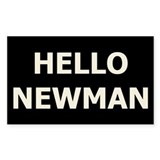Hello Newman Rectangle Decal