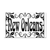 New Orleans Wrought Iron Design Rectangle Car Magn