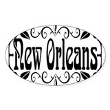 New Orleans Wrought Iron Design Decal