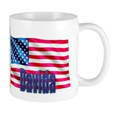 Davida Personalized USA Flag Mug