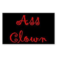 Ass Clown Rectangle Decal