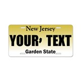 New Jersey Aluminum License Plate Replica