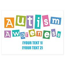 Personalize Autism Awareness 5x7 Flat Cards