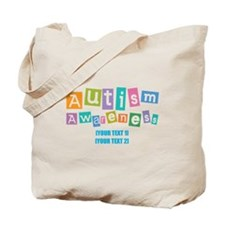 Personalize Autism Awareness Tote Bag