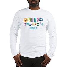 Personalize Autism Awareness Long Sleeve T-Shirt