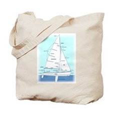 SAILBOAT DIAGRAM (technical design) Tote Bag