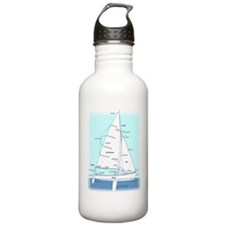 SAILBOAT DIAGRAM (technical design) Water Bottle