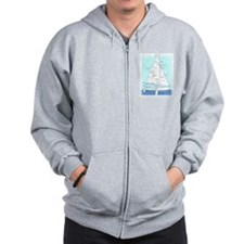 SAILBOAT DIAGRAM (technical design) Zipped Hoody